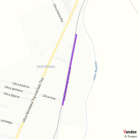 Улица окићеног пенџера на Yandex мапи