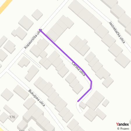 Церска улица на Yandex мапи