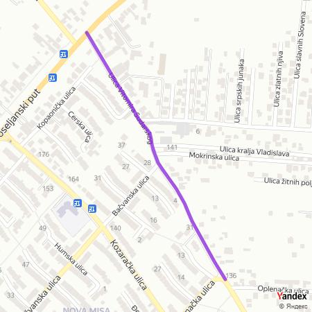 Улица Витомира Сударског на Yandex мапи