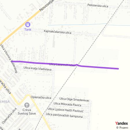 Улица Лазаревих кћери на Yandex мапи