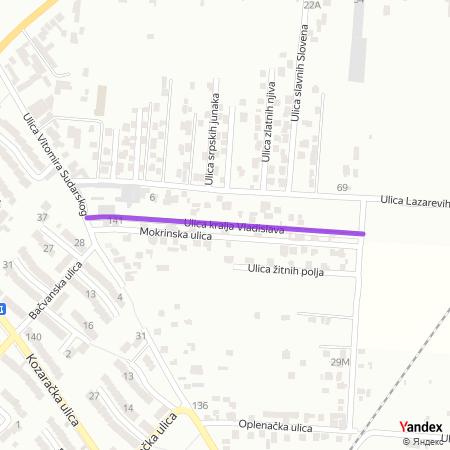 Улица краља Владислава на Yandex мапи