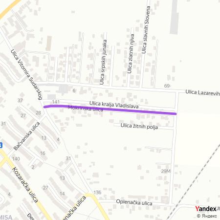 Мокринска улица на Yandex мапи