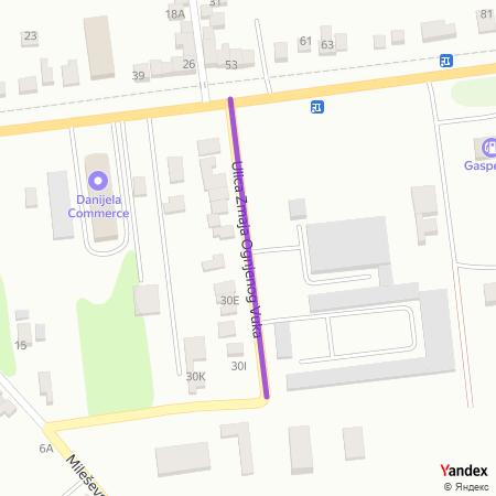 Улица Змаја Огњеног Вука на Yandex мапи