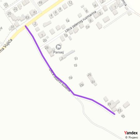 Улица добрих суседа на Yandex мапи
