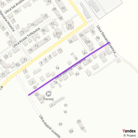 Улица зеленог рузмарина на Yandex мапи