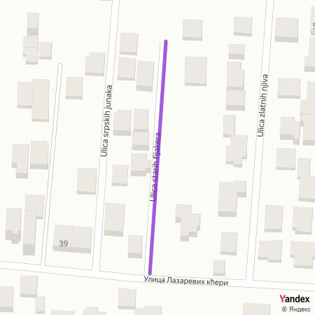 Улица старих фијакера на Yandex мапи