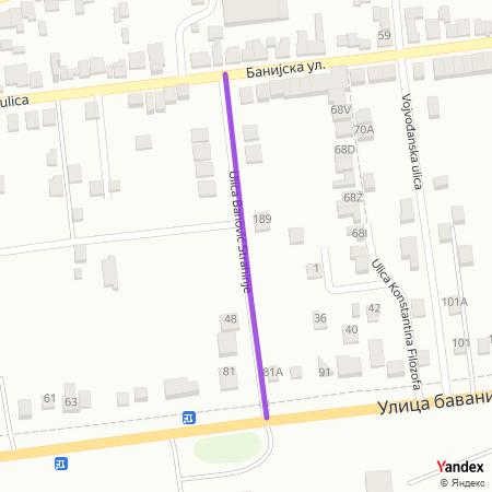 Улица Бановић Страхиње на Yandex мапи