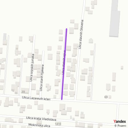 Улица златних њива на Yandex мапи