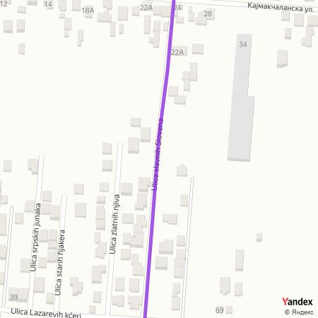Улица славних Словена на Yandex мапи