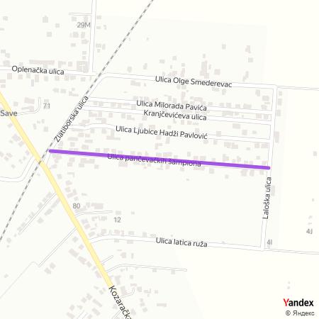 Улица панчевачких шампиона на Yandex мапи