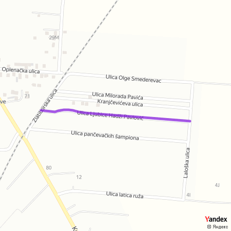 Улица Љубице Хаџи Павловић на Yandex мапи