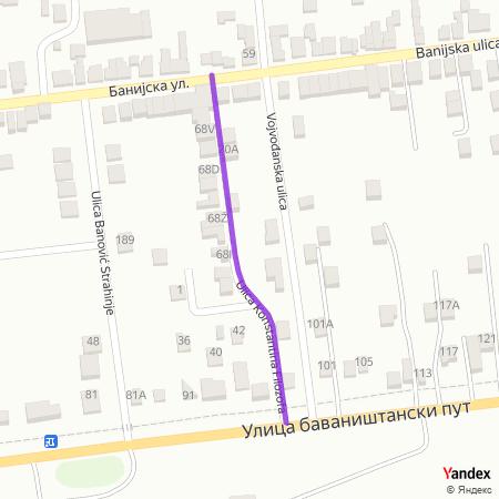 Улица Константина филозофа на Yandex мапи