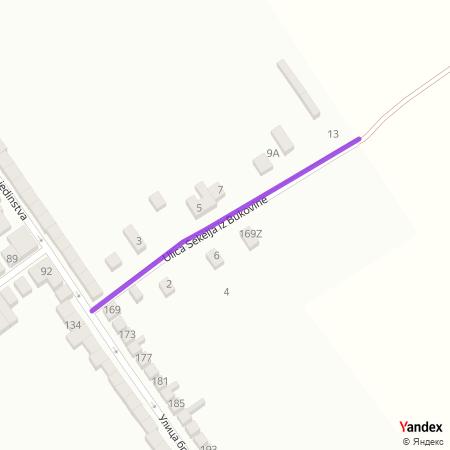 Улица Секеља из Буковине на Yandex мапи