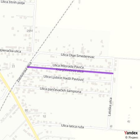 Крањчевићева улица на Yandex мапи