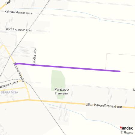 Улица латице ружа на Yandex мапи
