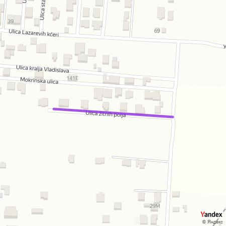 Улица житних поља на Yandex мапи