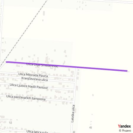 Улица Олге Смедеревац на Yandex мапи