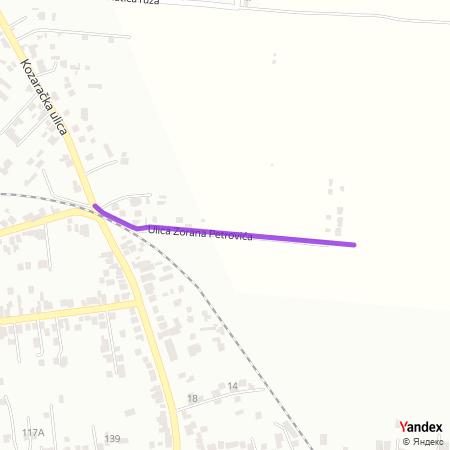 Улица Зорана Петровића на Yandex мапи