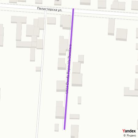 Улица Ђорђа Поповића Даничара на Yandex мапи
