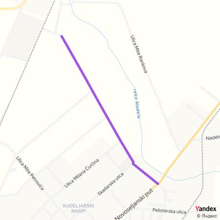 Улица Младена Маркова на Yandex мапи