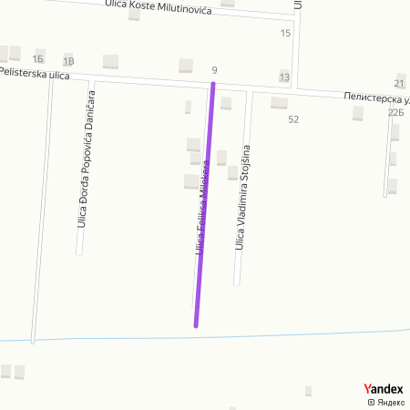 Улица Феликса Милекера на Yandex мапи