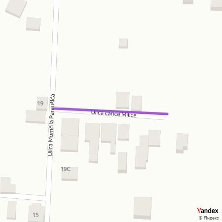 Улица царице Милице на Yandex мапи