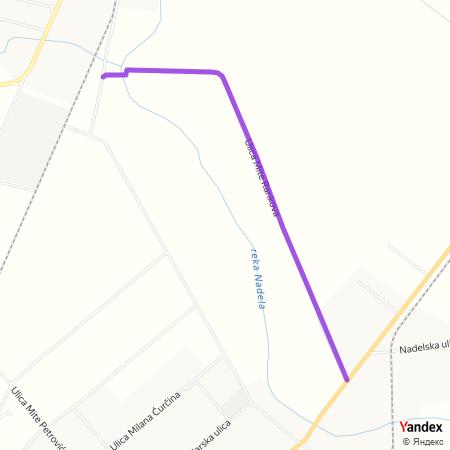 Улица Мите Ранкова на Yandex мапи