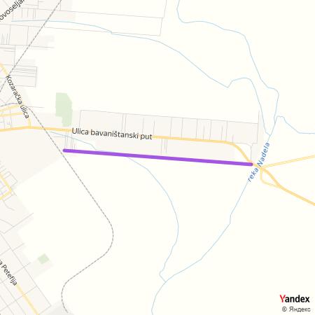 Улица панчевачких писаца на Yandex мапи