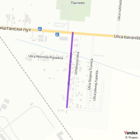 Улица косовских јунака на Yandex мапи