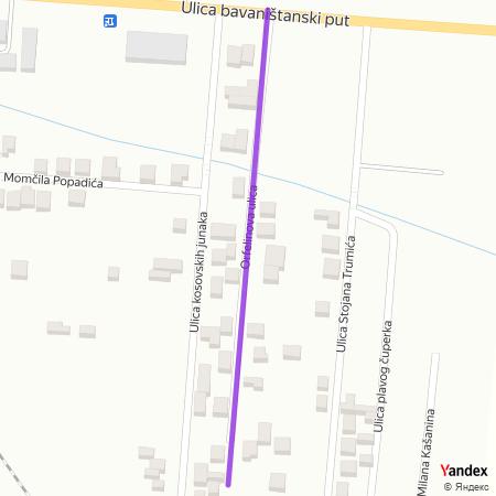 Орфелинова улица на Yandex мапи