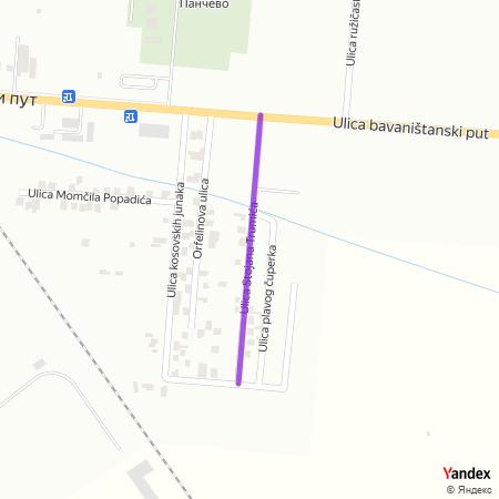 Улица Стојана Трумића на Yandex мапи