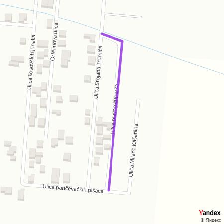 Улица плавог чуперка на Yandex мапи