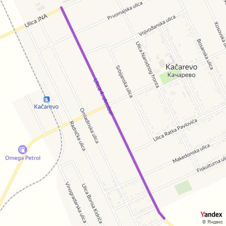 Улица 4. октобар на Yandex мапи
