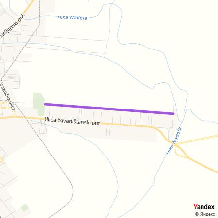 Улица Јелене Анжујске на Yandex мапи