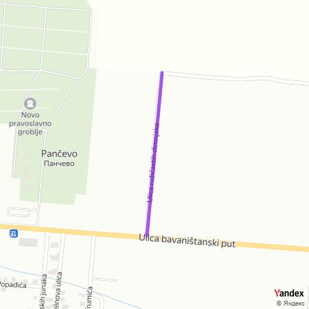 Улица ружичастих димњака на Yandex мапи