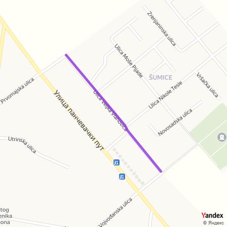 Улица Вељка Влаховића на Yandex мапи