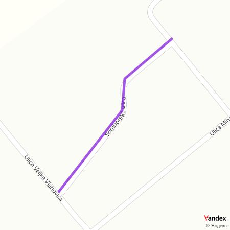 Сомборска улица на Yandex мапи
