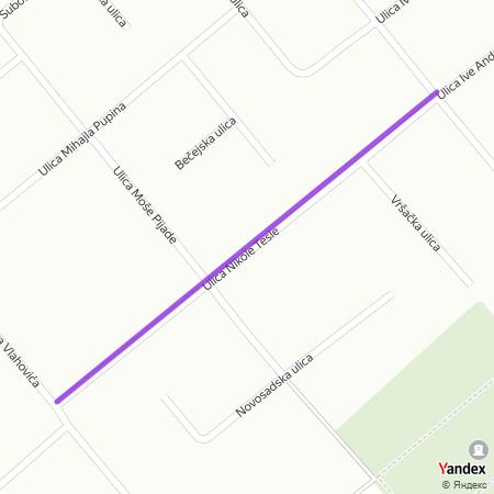 Улица Николе Тесле на Yandex мапи