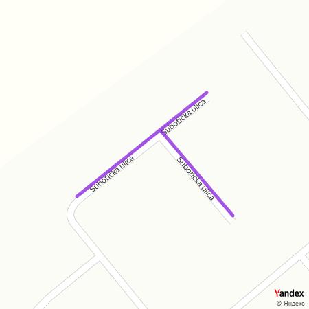 Суботичка улица на Yandex мапи