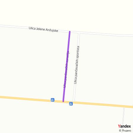 Улица панчевачких занатлија на Yandex мапи