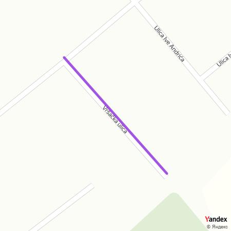 Вршачка улица на Yandex мапи