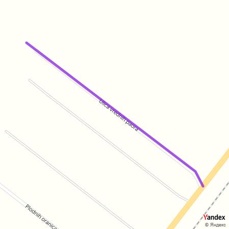 Улица вредних паора на Yandex мапи