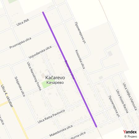 Босанска улица на Yandex мапи
