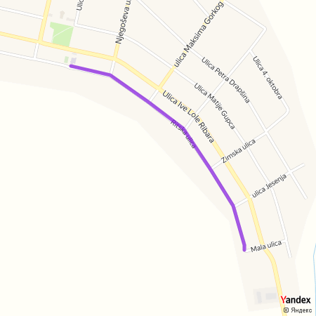 Ритска улица на Yandex мапи