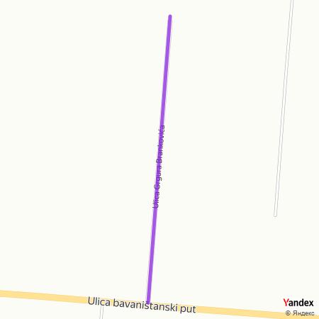 Улица Гргура Бранковића на Yandex мапи