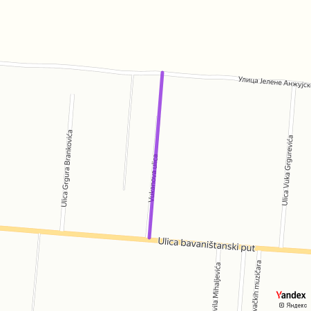 Вуканова улица на Yandex мапи