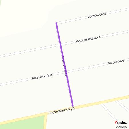 Банатска улица на Yandex мапи
