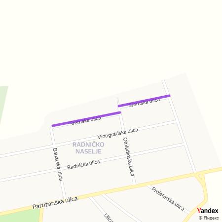 Сремска улица на Yandex мапи