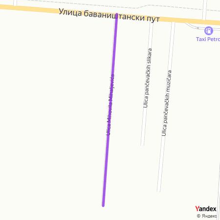 Улица Миховила Михаљевића на Yandex мапи
