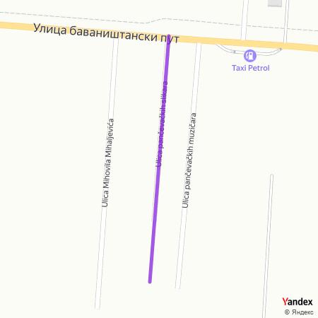 Улица панчевачких сликара на Yandex мапи